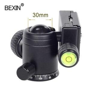 Image 4 - Videocamera testa a sfera video dslr treppiede montaggio su testa mini ballhead testa panoramica rotante a 360 gradi per fotocamera dslr treppiede