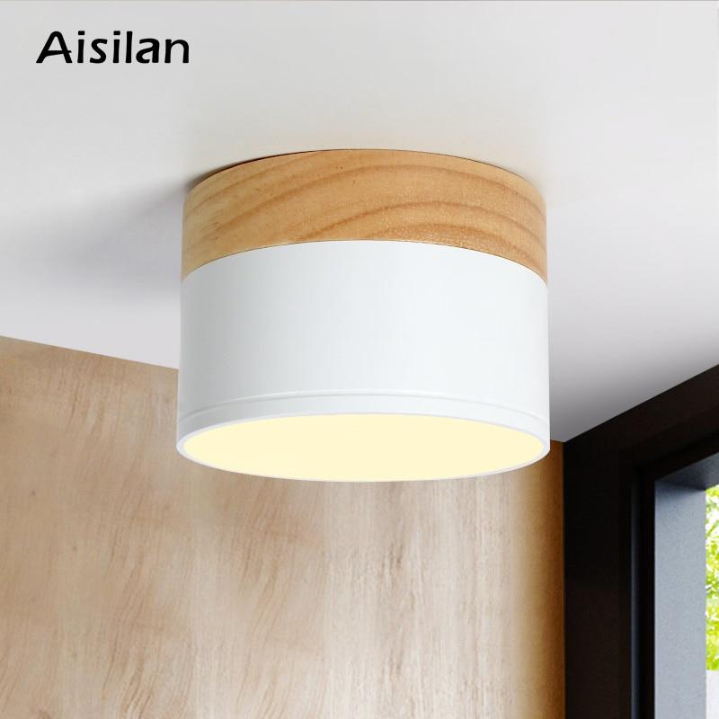 Aisilan LED ceiling spot light for ceiling lamps Lighting Fixtures led 5W  Wood downlight spotlight modern wood living light