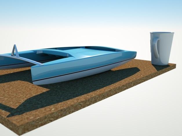 Catamaran Custom Order Highqualityhighprecision Digital Models 3D Printing Service Classic Objects ST2149