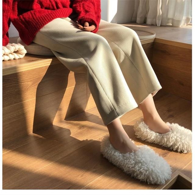 Elegant High Waist Corduroy Pants 5