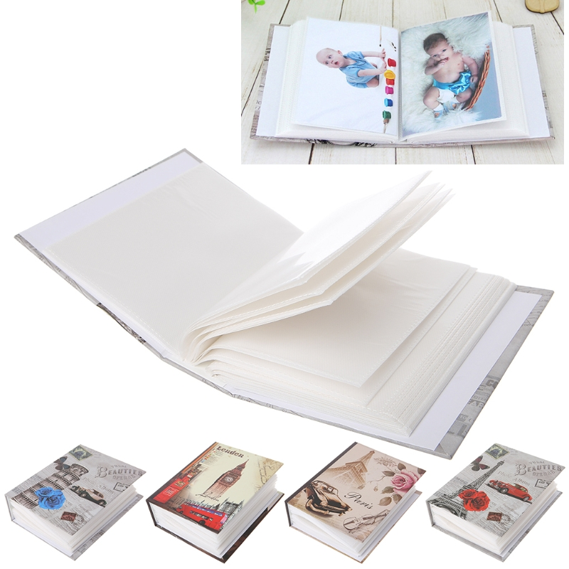 100 Pictures Pockets Photo Album Interstitial Photos Book Case Kid Memory Gift Card Storage Product L29k