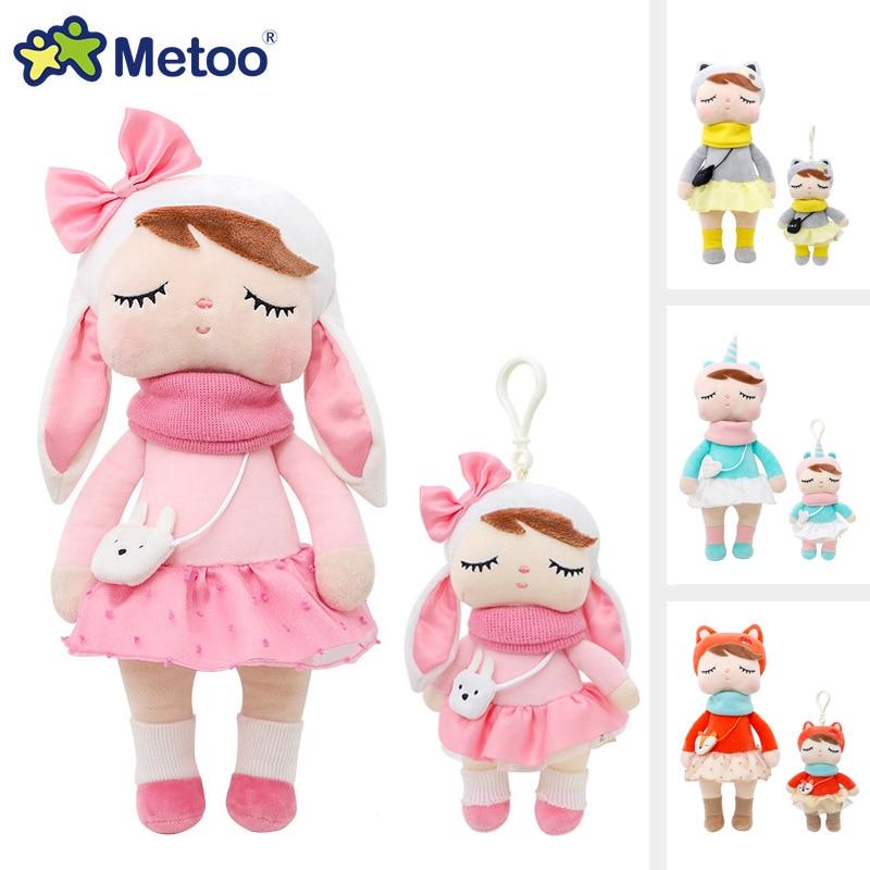 Metoo floresta animais de pelúcia & bonecas recheadas unicórnio angela boneca coelho brinquedo de pelúcia bonito raposa crianças companheiro macio decoração boneca brinquedos