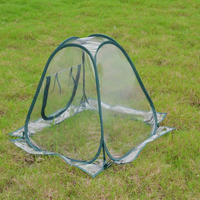 Mini Waterproof Protection Plant Cover Greenhouse Flower Garden Tent PVC Foldable Pest Control Transparent Portable Household