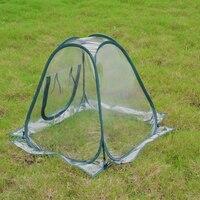 미니 방수 보호 식물 커버 온실 꽃 정원 텐트 pvc foldable 해충 방제 투명 휴대용 가정용|식물 커버|   -