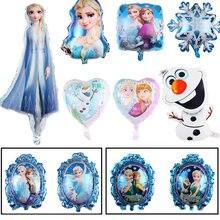 Frozen elsa anna princesa balão de chá de fraldas crianças festa de aniversário decoração de balão de dupla face balões de folha de alumínio