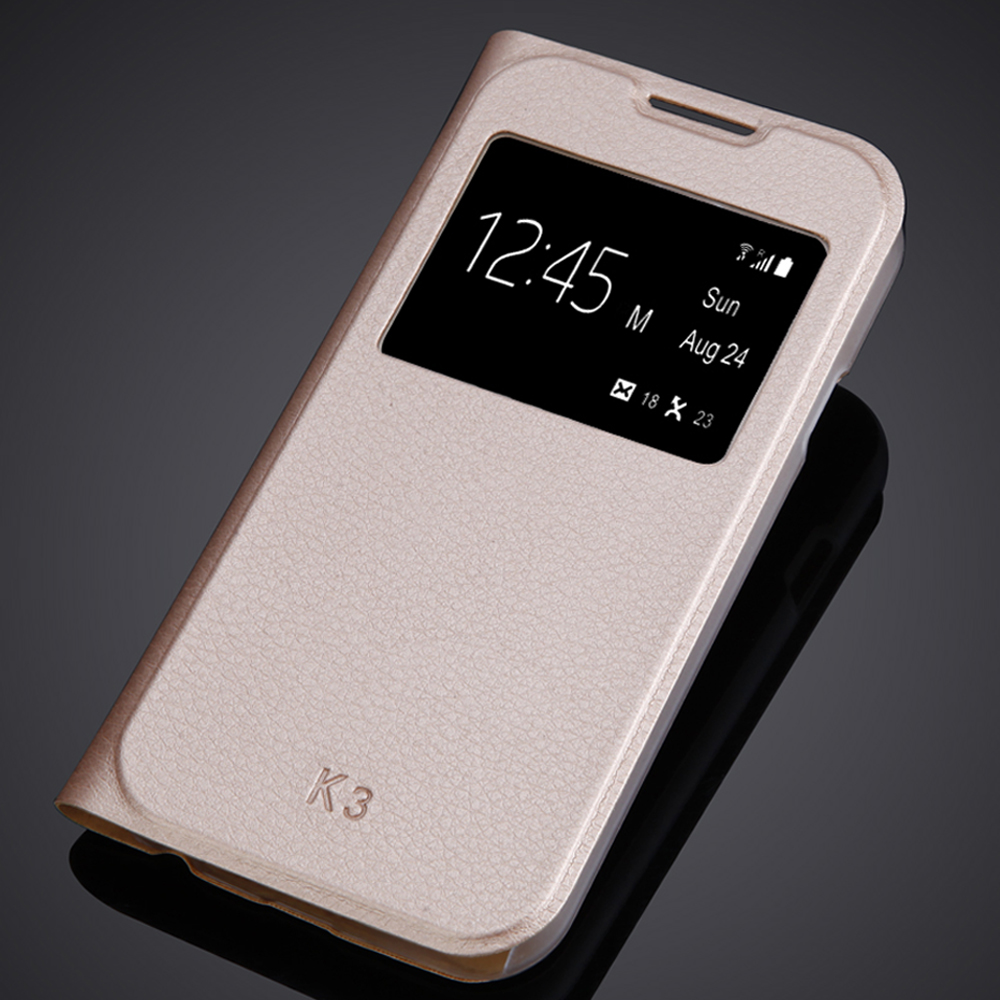 Luxury Flip Window Case For <font><b>LG</b></font> K3 Lte <font><b>K100</b></font> K100DS LS450 <font><b>LG</b></font> K3 4.5