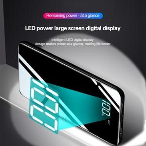Image 4 - 10000mAh moc banku dla Xiaomi przenośna ładowarka banku lustro telefonu telefony komórkowe z 10000 Mah Micro Usb typ C zewnętrzna bateria