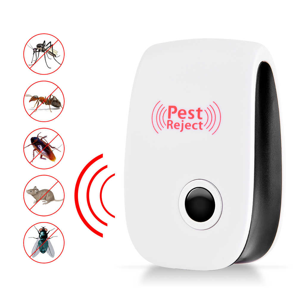 Electronic Ultrasonic Healthy Rechargeble Anti Mosquito Insect Pest Reject Mouse Repellent Repeller Practical Home EU/US/UK Plug