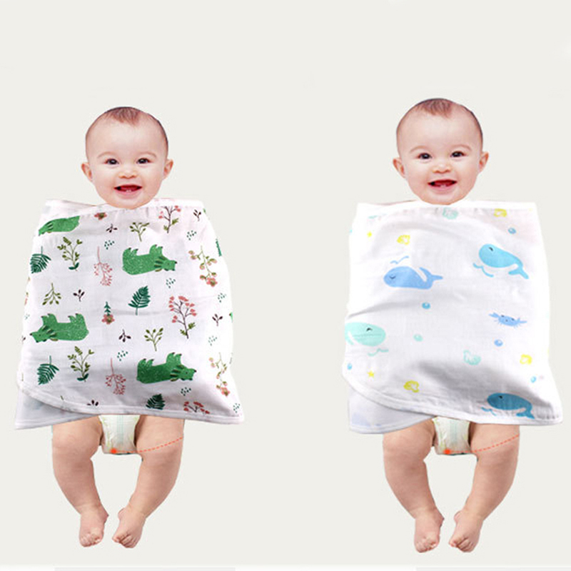COLOOM Baby Sleepy Floral Gown Infant Baby Swaddle Wrap Knotted Sleepwear Cotton Sleeping Bags Hat 2pcs Clothes