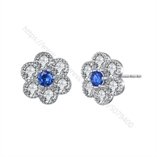 Bridal CZ Wedding Earrings white gold color plated Rhinestone Earrings Floral Earrings Bridesmaid Earrings for girl