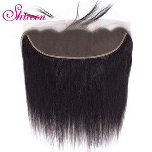 Shireen волосы бразильские прямые волосы на шнурке 13*4 от уха до уха одна штука 10-20 дюймов Remy человеческие волосы на застежке