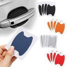 4 Teile/satz Auto Tür Aufkleber Carbon Fiber Kratzer Beständig Abdeckung Auto Griff Schutz Film Außen Styling Zubehör