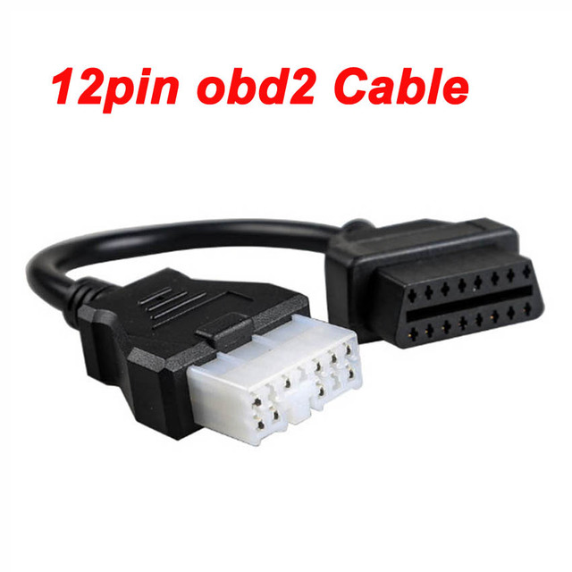 Hot OBDII 16pin To 12pin Obd Interface for Mitsubishi Car Diagnostic Scanner 16 Pin Obd2 Male To 12PIN Port Connector Adapter