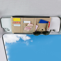 Universal cartão óculos de bolso organizador do carro auto sol viseira ponto de armazenamento titular multi-bolso organizadores de armazenamento de carro 15*31cm