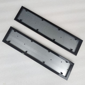 Image 5 - Porte plaque dimmatriculation, cadre de numéro, plaque dimmatriculation, couvercle, couleur métallique en fibre de carbone