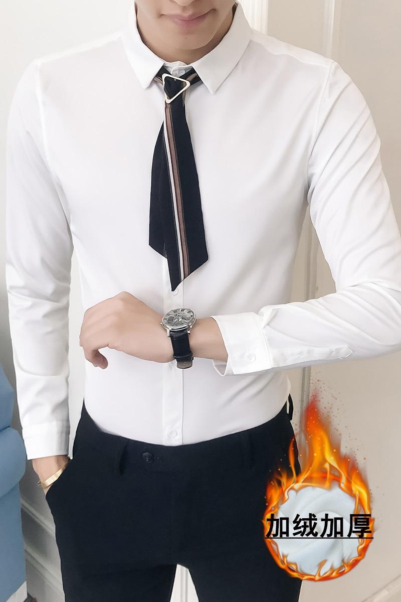 men Fashion white tuxedo shirt   5