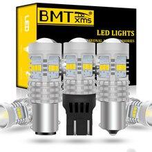 BMTxms Canbus LED DRL lámpara de luces de retroceso de marcha atrás P21W PY21W BA15S BAY15D T20 7440 7443 W21W T25 3157 P27W luz del coche