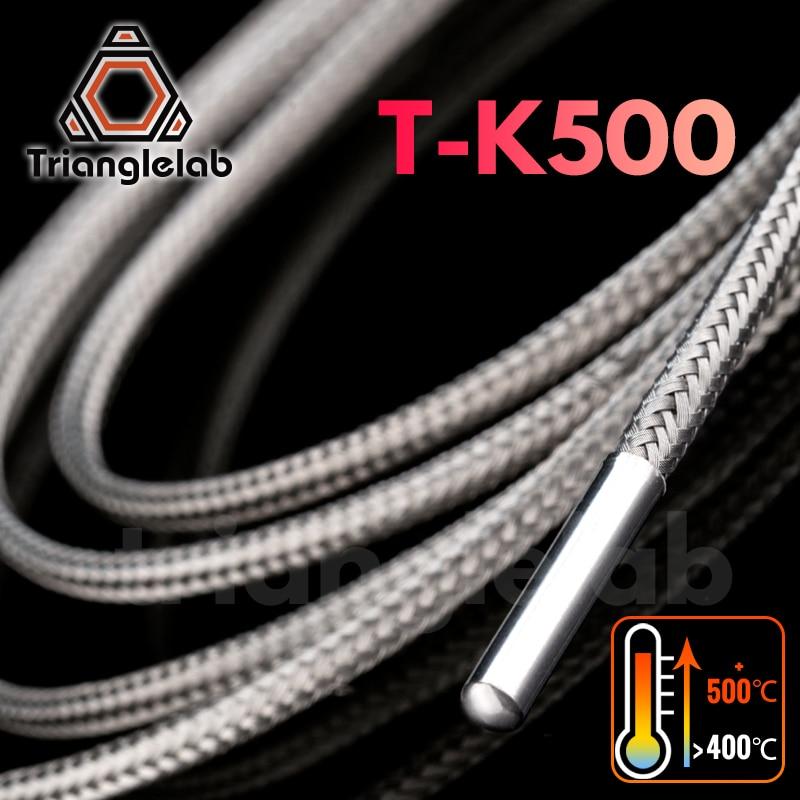 Trianglelab T-K500 Thermocouple sensor 500        PEI PEEK high temperature 3D printing  for volcano E3D V6 HOTEND Temperature Sensor