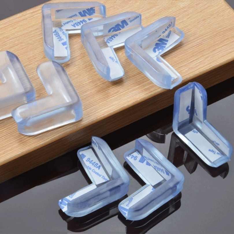 4 pces/1 pc protetor de silicone transparente de segurança infantil mesa canto proteção capa crianças anticoll borracha de silicone líquido