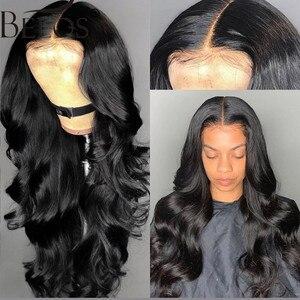 Image 5 - Beeos onda do corpo 360 laço frontal peruca brasileira remy perucas de cabelo humano 180% com o cabelo do bebê para as mulheres pré arrancadas nós descorados