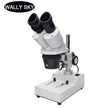 цены 20X 30X 40X Binocular Stereo Microscope Industrial Stereo Microscope Top LED Illumination Mobile Phone PCB Soldering Repair Tool