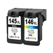 Сменный чернильный картридж 145 146 XL для принтера Canon PG145 CL146 145 XL 146 XL, совместим с принтером Pixma MG2410 MG2410 MG2510
