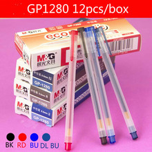 12PCS M&G GP1280 RollerBall pen Gel ink Pen 0.5mm Office and schoole stationery Wholesale Black/Red/Blue/Blue Black Colors