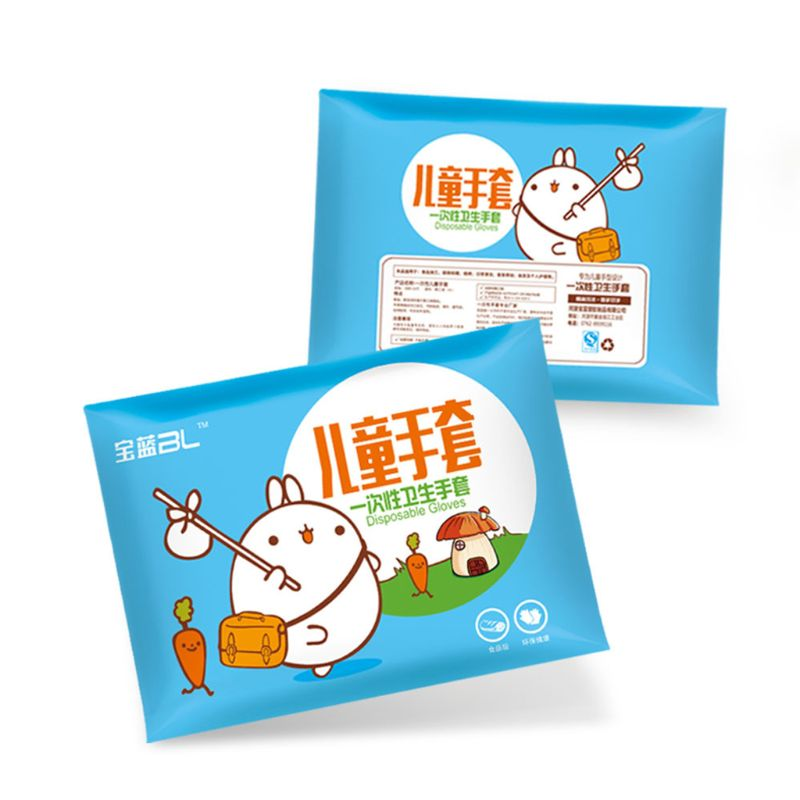 100pcs PE Gloves - Powder Free, Clear, Latex Free And Allergy Free, Plastic, Work, Food Service, Cleaning For Kids