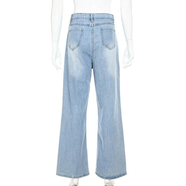 Ladies Straight Leg Baggy Jeans 6