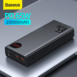 Baseus 22.5W/ 65W Power Bank 20000mAh Portable Fast Charging Powerbank Type C PD Qucik Charge Poverbank External Battery Charger