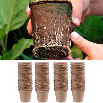Biodegradable Plant Nursery Cup Moisture-Proof Round Environment Bucket Paper Plant Improve Ecological T2Y8 image