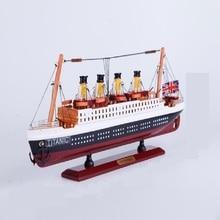 35CM Wooden Titanic Cruise Ship Model  Decoration Wood Sailing Boat Craft Creative Living Room Decor Gift  Ali Gift Store