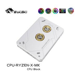 Image 3 - Bykski CPU con radiador de cobre y luz RGB de 5V y 3 pines, bloque de agua, para AMD RYZEN3000 AM3 AM3 + AM4 1950X TR4 X399 X570