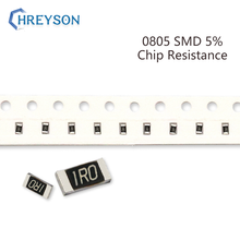 100Pcs 0805 SMD Resistor Kit 5% Tolerance 0R-22M 5.1K 5.6K 6.2K 6.8K 7.5K 8.2K 9.1K 10 Ohm Full Value Available DIY Assorted Set