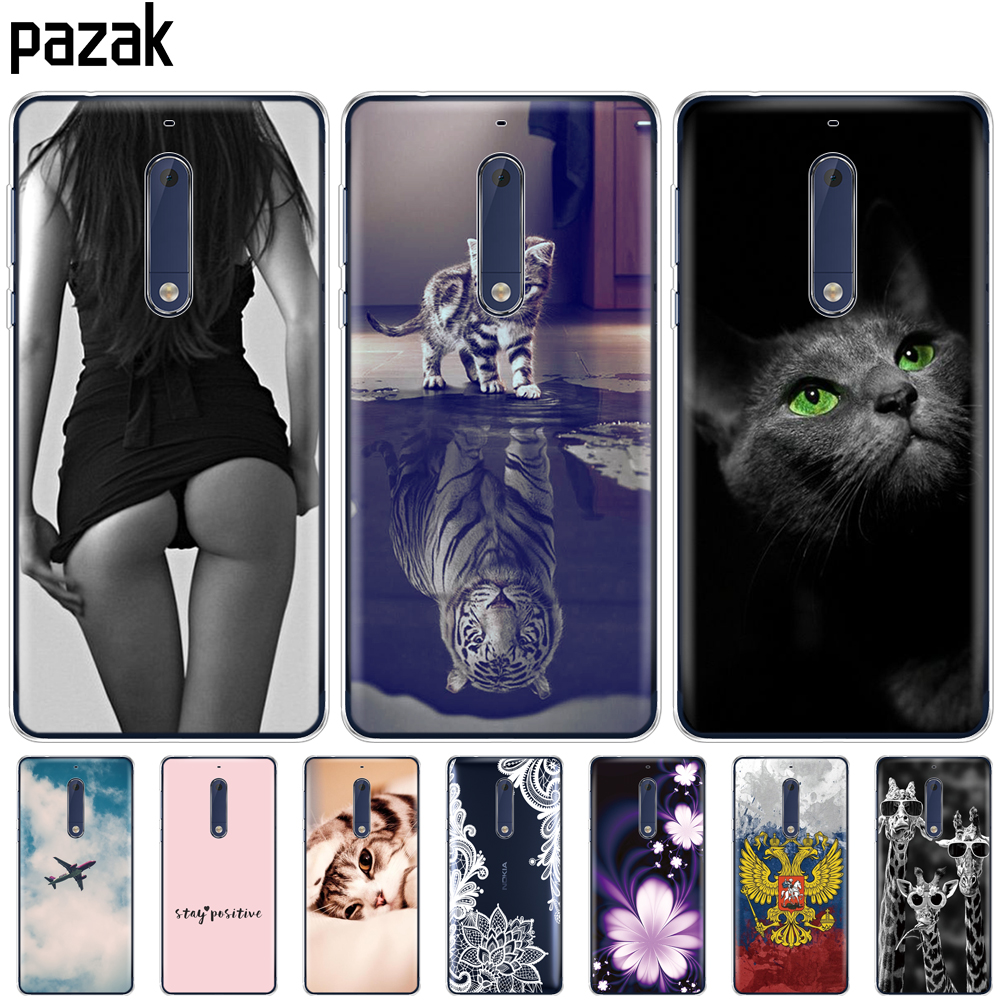 Silicon case for <font><b>Nokia</b></font> 1 2 2.1 3 <font><b>3.1</b></font> 5 5.1 <font><b>plus</b></font> 2018 soft tpu back cover shockproof Coque bumper housing full 360 protective pop image