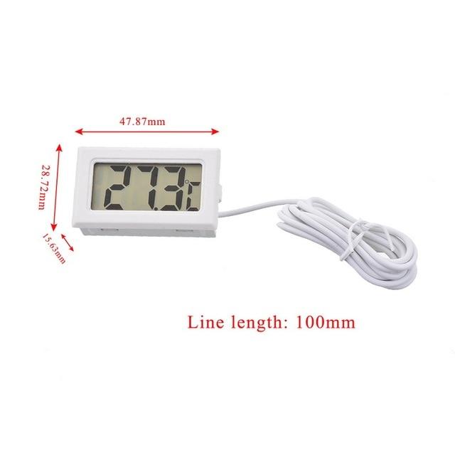 Z sondą Mini LCD cyfrowy termometr higrometr lodówka z zamrażarką Tester temperatura 2 sekundy czujnik cyfrowy stacja pogodowa