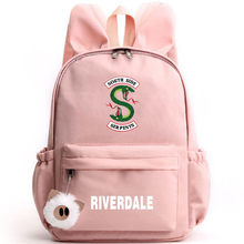 South Side Serpents Riverdale Backpack Rabbit Ears Cute Fashion Bags Riverdale Pencil Case Canvas School Bags Teenage Girls Boys(China)