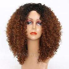 Lange Rode Zwarte Afro Pruik Kinky Krullend Pruiken Voor Zwarte Vrouwen Blonde Gemengde Bruin 250G Synthetische Pruiken