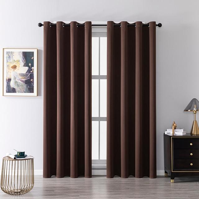 Modern Plain Curtains for Living Room 2