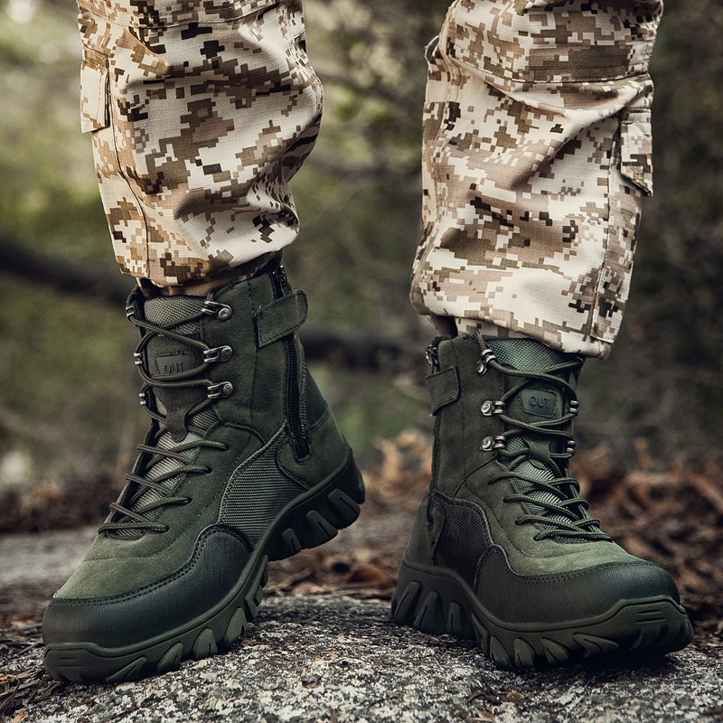 Outdoor Hiking Shoes Camping Mountain Climbing Boots Trekking Sneakers men Tactical Boots Army Boots Mens Military Desert shoes
