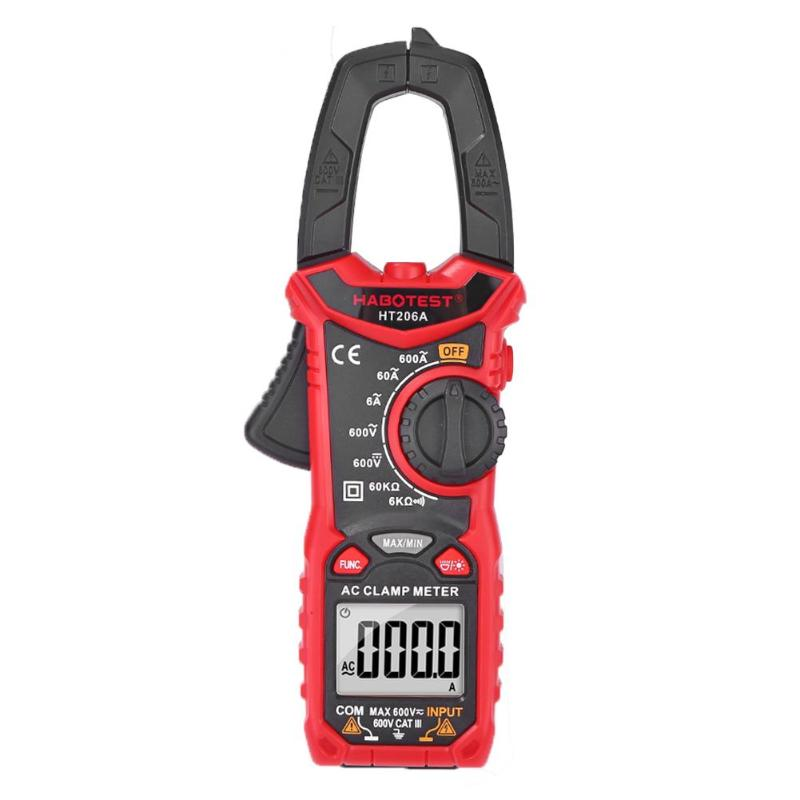 HABOTEST HT206A/HT206B/HT206D AC/DC Digital Clamp Meter Multimete NCV Clamp Meter Multimeter Voltage Current Resistance Tester