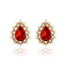 DREJEW Luxury Red Rhinestone Water Drop Statement Earrings 925 Custom Crystal Stud Earrings Sets for Women Wedding Jewelry E2261 автокресло smart travel first marsala 0 1 5 лет 0 13 кг группа 0плюс kres2081