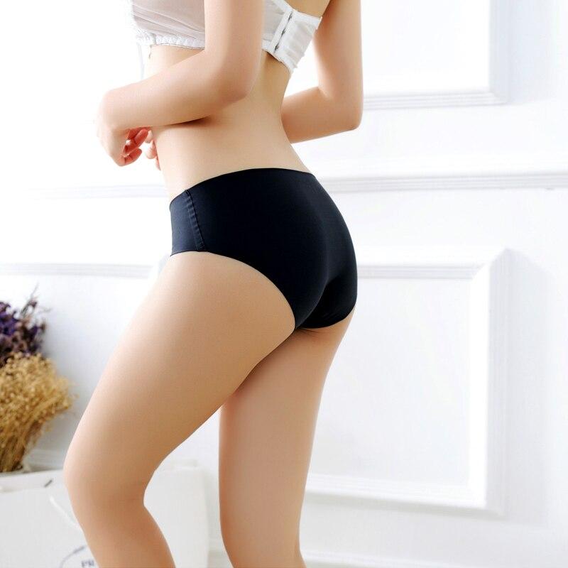 Women's Seamless Panties Solid Ultra-thin Silk Sexy Women Briefs Low-Rise Thongs G-String Underwear Women Underwear Lingerie Hot