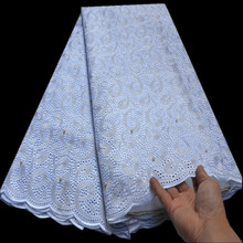 Swiss Voile Nigerian Lace-Fabric Heavy-Beaded Switzerland White African Dry High-Quality