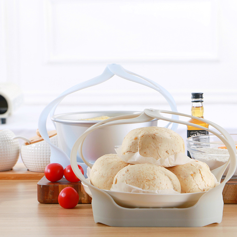 Silicone Insulation Baking Tray Kitchen Helper Ear Loops Silicone Steamer Basket Anti-scalding Mat