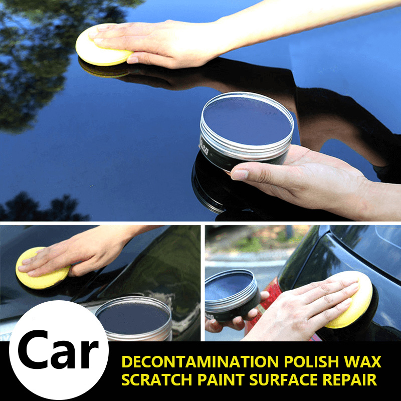 Car Wax Crystal Plating Set With Sponge Towel Hard Glossy Carnauba Wax Paint Care Coating Tiny Scratch Repair Maintenance TSLM1