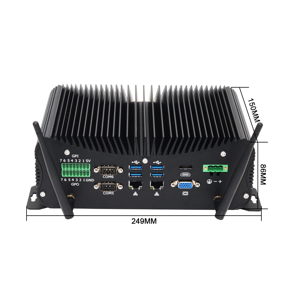 Eglobal Industrial Pc 6*DB9 COM 2LAN DDR4 WES7/10 Fanless Mini Computer SIM Card GPIO PS/2 LPT SIM Card Desktop HD VGA Watchdog