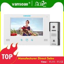 VANSOALL visiophone filaire avec écran couleur 7 pouces, interphone vidéo étanche déverrouillage