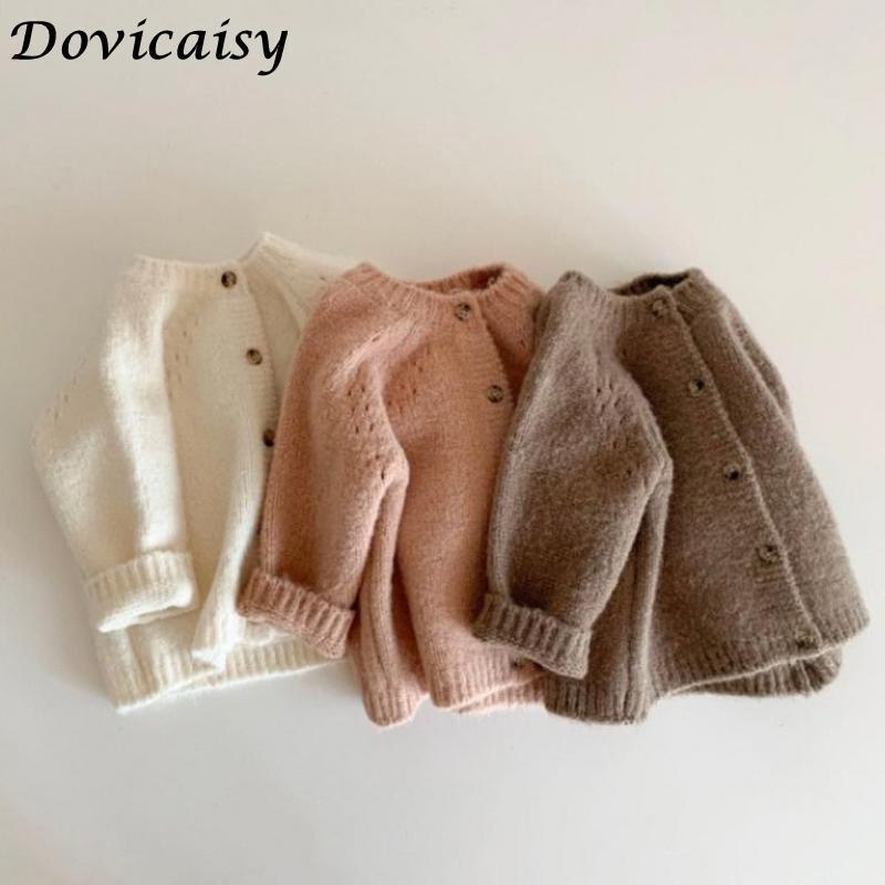 Autumn Baby Girls Cardigan Coat Woolen Kids Sweater For Girls Toddler Cardigan Boys Jacket Sweater New Baby Boys Girls Coat