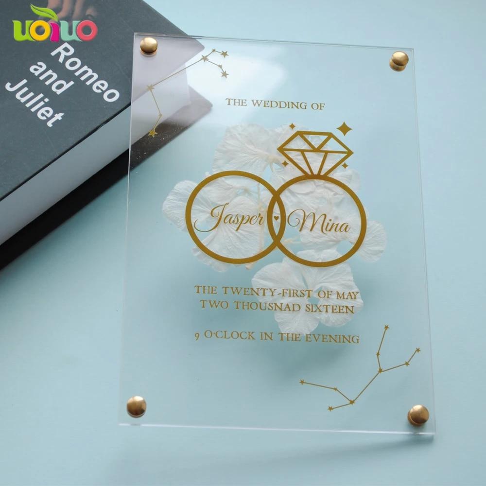 10pcs Cheap Price Printable Custom Free Design Floral Acrylic Wedding Invitations Wedding Card Boxes Aliexpress